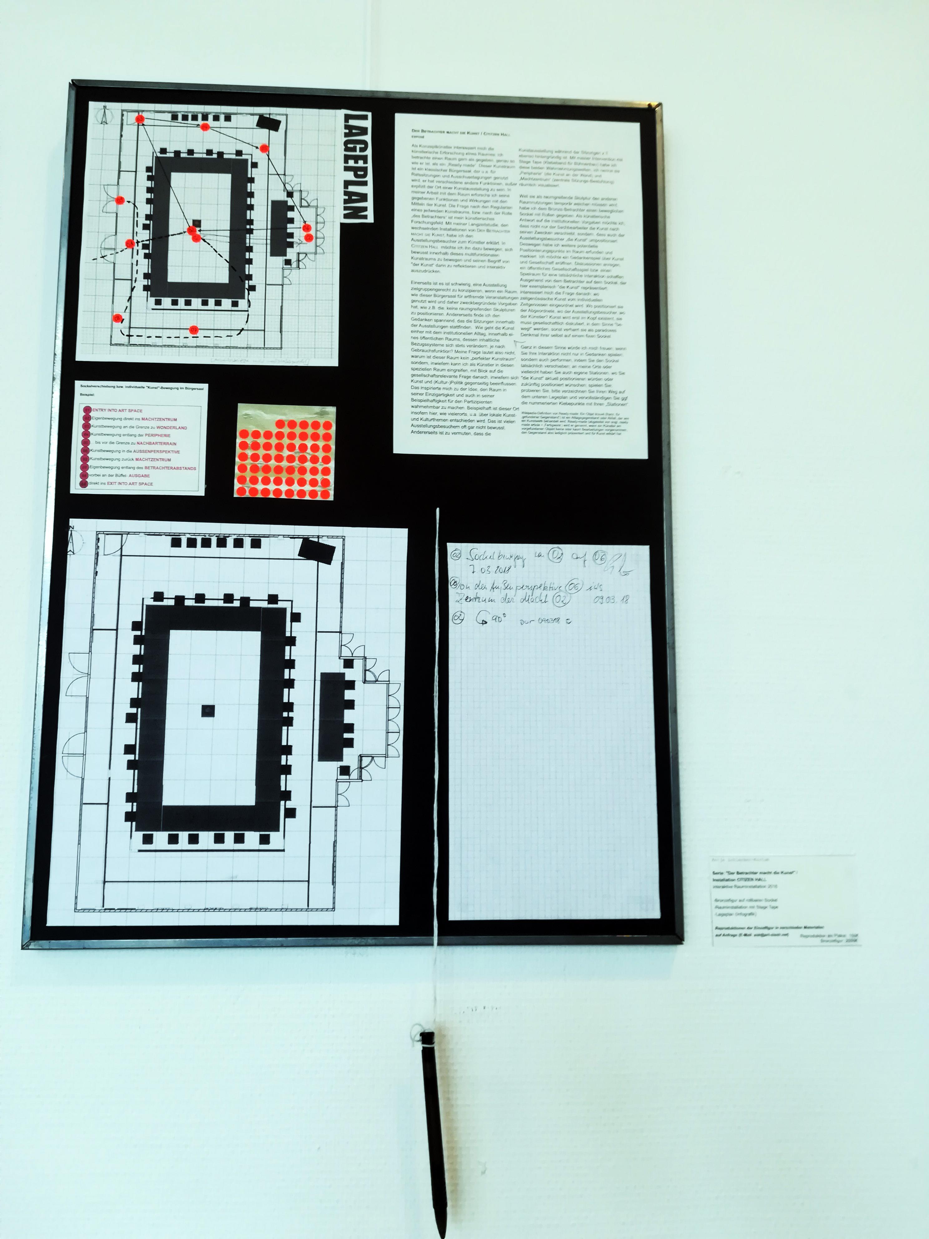 Der Betrachter macht die Kunst/ Cititzen Hall /Lageplan